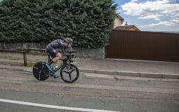 Il ciclista Christian Knees - Criterium du Dauphine 2017 Fotografia Stock