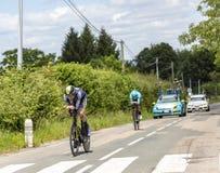 Il ciclista Damien Howson - Criterium du Dauphine 2017 Fotografie Stock