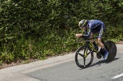 Il ciclista Damien Howson - Criterium du Dauphine 2017 Immagini Stock