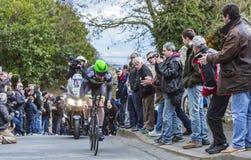 Il ciclista Daniel Mc Lay - 2016 Parigi-piacevole Fotografia Stock
