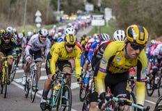 Il ciclista Dylan Groenewegen - 2019 Parigi-piacevole fotografie stock