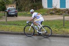 Il ciclista Eduard Grosu - 2019 Parigi-piacevole fotografie stock