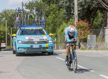 Il ciclista Fabio Aru - Criterium du Dauphine 2017 Fotografia Stock