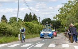 Il ciclista Frederik Backaert - Criterium du Dauphine 2017 Fotografia Stock Libera da Diritti