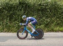 Il ciclista Frederik Backaert - Criterium du Dauphine 2017 Immagine Stock