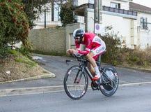 Il ciclista Geoffrey Soupe - 2016 Parigi-piacevole Fotografia Stock