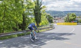 Il ciclista Guillaume Van Keirsbulck - Criterium du Dauphine 201 Fotografia Stock