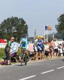 Il ciclista Jakob Fuglsang Fotografia Stock Libera da Diritti