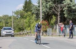 Il ciclista Jens Keukeleire - Criterium du Dauphine 2017 Fotografie Stock Libere da Diritti