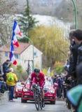 Il ciclista Jerome Cousin - 2016 Parigi-piacevole Fotografie Stock Libere da Diritti