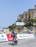Il ciclista Jerome Pineau Fotografie Stock Libere da Diritti