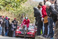 Il ciclista Julien Simon - 2016 Parigi-piacevole Fotografia Stock