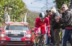 Il ciclista Julien Simon - 2016 Parigi-piacevole Immagine Stock Libera da Diritti
