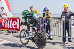 Il ciclista Kevin Reza Fotografia Stock