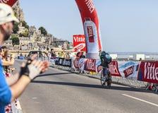 Il ciclista Kevin Reza Immagine Stock