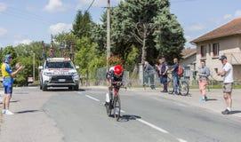 Il ciclista Louis Meintjes - Criterium du Dauphine 2017 Immagini Stock