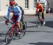 Il ciclista Marco Haller - 2019 Parigi-piacevole fotografia stock