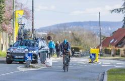 Il ciclista Mikel Nieve Iturralde - 2016 Parigi-piacevole Immagine Stock Libera da Diritti