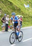 Il ciclista Ramunas Navardauskas sul passo de Peyresourde - visiti il de Immagini Stock Libere da Diritti