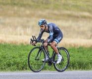 Il ciclista Richie Porte Fotografia Stock
