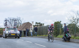 Il ciclista Roy Curvers - 2016 Parigi-piacevole Fotografia Stock
