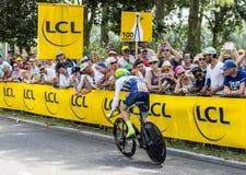 Il ciclista Simon Yates - Tour de France 2015 Fotografie Stock Libere da Diritti