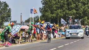 Il ciclista Sylvain Chavanel Fotografie Stock Libere da Diritti