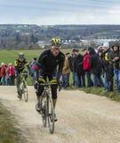 Il ciclista Thomas Voeckler - 2016 Parigi-piacevole Fotografie Stock