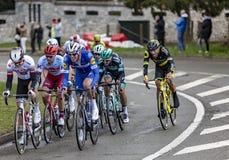 Il ciclista Tim Declercq - 2019 Parigi-piacevole fotografie stock libere da diritti