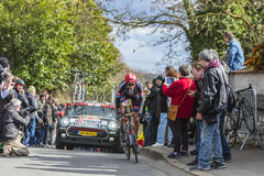 Il ciclista Tobias Ludvigsson - 2016 Parigi-piacevole Immagini Stock Libere da Diritti