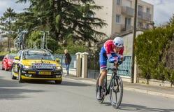 Il ciclista Wilco Kelderman - 2016 Parigi-piacevole Immagini Stock