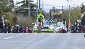 Il ciclista Wouter Wippert - 2016 Parigi-piacevole Fotografia Stock