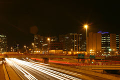Il ciclo ad ovest di Chicago alla notte II Fotografia Stock Libera da Diritti