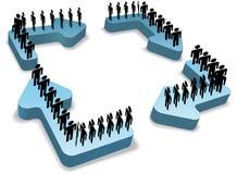Il ciclo della gente di processo di flusso del lavoro ricicla le frecce Immagine Stock