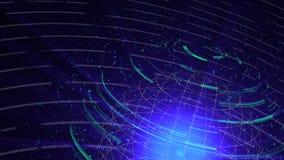 Il ciclo digitale del fondo di distorsione di vetro del globo, 3d astratto rende, contesto generato da computer illustrazione di stock