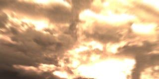 Il cielo è su fuoco La fantascienza fotografia stock