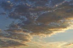 Il cielo al tramonto Fotografie Stock Libere da Diritti