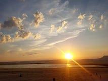 Il cielo al tramonto Fotografia Stock