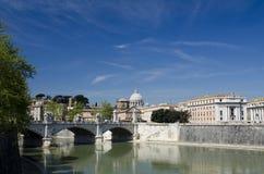 Il cielo blu sopra Roma Fotografia Stock Libera da Diritti