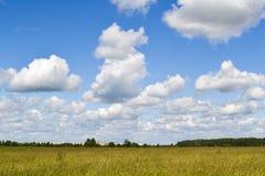 Il cielo con le nuvole di pioggia sistema e cielo con le nuvole Fotografia Stock