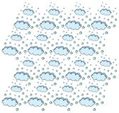 Il cielo con le nuvole e la neve di caduta Immagini Stock Libere da Diritti