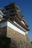 Il cielo del castello 03 di Himeji Fotografie Stock Libere da Diritti