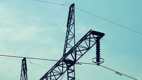 Il cielo del palo di potere si appanna passando il lasso di tempo 01 video d archivio