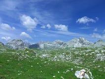 Il cielo dell'alta montagna dolomiten l'Italia Immagine Stock