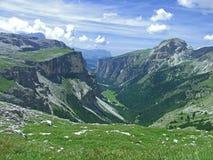 Il cielo dell'alta montagna dolomiten l'Italia Immagini Stock Libere da Diritti