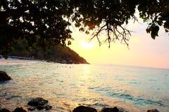 Il cielo della spiaggia di tum-Yaii Fotografie Stock Libere da Diritti
