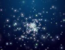 Il cielo della stella di notte. Spazio aperto Immagine Stock