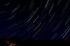 Il cielo della stella segue il turismo della tenda Immagini Stock