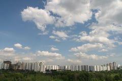 Il cielo di Mosca fotografie stock libere da diritti