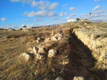 Il cielo di Sebastopoli del sole dell'estate della Crimea si appanna il viaggio Fotografie Stock Libere da Diritti